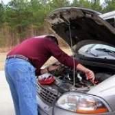 Produtos químicos em uma bateria de carro