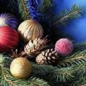 Decoração de glitter bolas de natal
