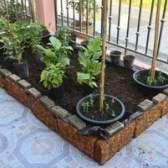A quantidade de solo que eu preciso de uma cama levantada jardim 8 x 4 x 1?