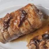 Como cozinhar a carne de porco lombo assado recheado