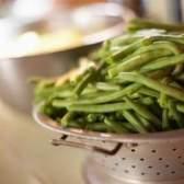 Como manter a cor em feijões verdes