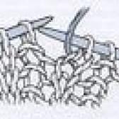 Como a tricotar um ponto à frente do fio
