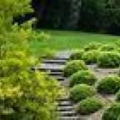Como paisagem para um jardim da frente montanhosa