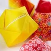 Como fazer um origami dodecaedro estrelado