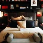Idéias para grandes quartos com camas no meio dos quartos
