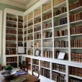 Partes de uma estante de livros