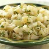 Batatas russet em salada de batata