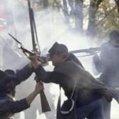 União vs. Confederação armas da guerra civil