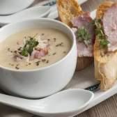 O que especiarias vão melhor com presunto e sopa de batata?