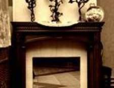 Idéias de decoração em uma sala de estar com tv e uma lareira