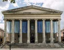 Arquitetura grega em edifícios modernos em os eua