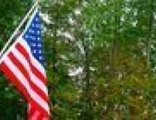 Como anexar um pólo de bandeira de tijolo