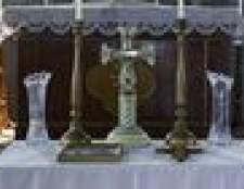 Instruções para a iluminação e extinção velas do altar
