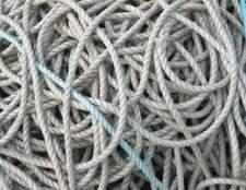 Como cadeia de nó de uma corda