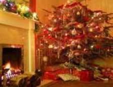Como limpar uma saia árvore de Natal feita de feltro