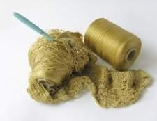 Como fazer crochê um lenço laçado