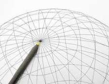 Como encontrar o centro e raio de uma esfera