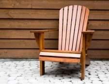 Como terminar mobiliário de cedro ao ar livre