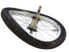 Como corrigir uma roda de bicicleta fivela