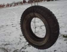 Como pendurar um balanço do pneu quando você não tem uma árvore
