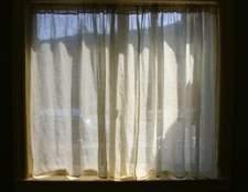 Como pendurar cortinas, sem perfuração