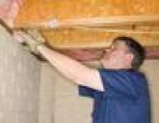 Como isolar e adicionar uma barreira de vapor a um teto do porão