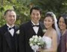Como introduzir os seus pais em uma recepção de casamento