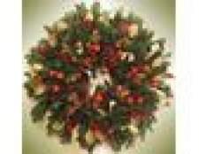 Como fazer uma coroa de flores de abeto do natal