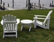 Como fazer cadeiras de Adirondack de pranchas de cerca de salvamento