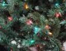 Como reciclar luzes da árvore de natal