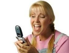 Como sms um telefone móvel