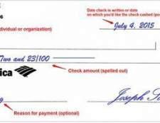 Como escrever um cheque