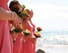 Idéias para cores de coral em um casamento
