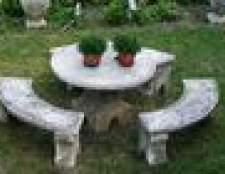 Fazendo uma mesa ao ar livre de concreto