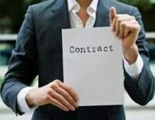 Acordos contratuais para um contratante independente